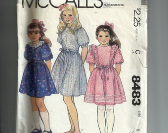 McCall's Children's and Girl's Dress and Tie Belt Pattern 8483