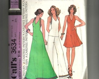 McCall's Misses' Dress or Top and Pants for Knits Pattern 3634