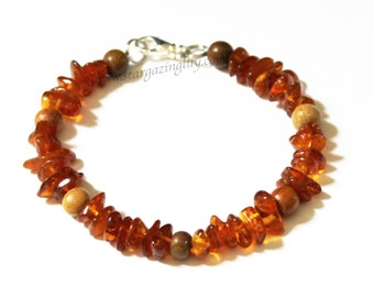 Baltic Amber Bracelet Various Adult sizes. Genuine Amber Holistic Healing Arthritis Pain Relief naturally by Stargazinglily