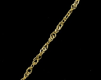 Bright Gold, 1.5mm Spiral Link Chain CC170