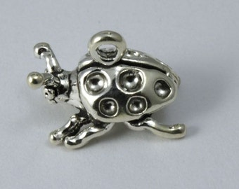 Sterling Silver 9mm x 13mm Doodle Bug Charm  #BSF049