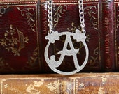 Handmade Silver Initial Necklace