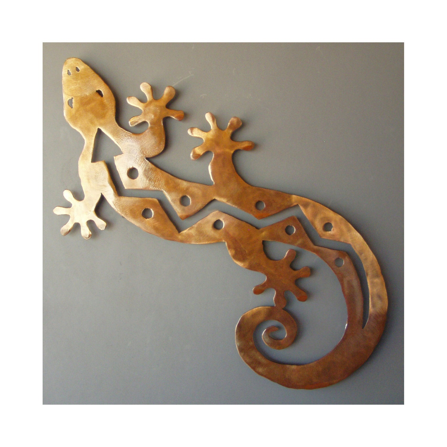 gecko wall art lizard sculpture metal wall art southwest