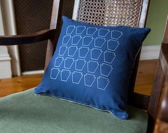 Keystone Screenprinted Pillow