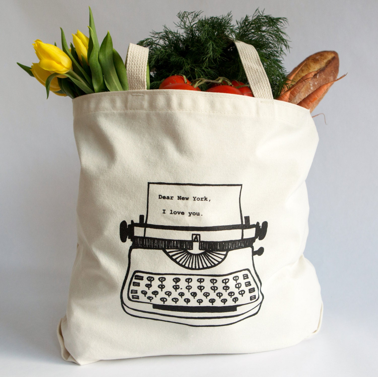 Dear New York I love you. Tote Bag Recycled Cotton