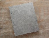 Large Blank Journal Grey 8x6.4 inches - unlined hand torn pages - Ready to Ship