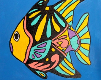 Colorful Fish Original Painting
