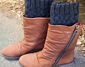 Knit Boot Cuffs Faux Leg Warmers Colours you choose custom made to order