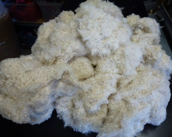 Certified Organic White Cotton Stuffing  Dolls Toys Sewing One Pound GOTS