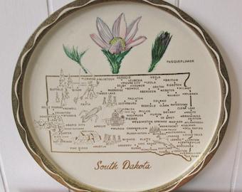 vintage South Dakota souvenir tray