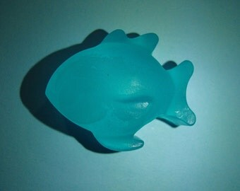 3 Blue Small Fish Glycerin Soaps
