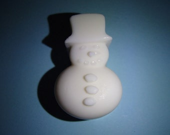 3 White Snowman Shaped Glycerin Soaps