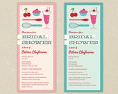 Bridal Shower Invitations: Retro Kitchen Shower with Recipe Cards