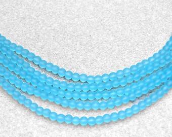 Tropical Bay II- recycled sea glass beads