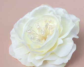 Wedding Hair Piece, Bridal Headpiece, Wedding Hair Flower, Wedding Hair Clip, Fascinator  - Clara
