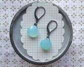 karel earrings - chalcedony silver