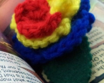 Crocheted Rose Bar Pin - Hero 2 (SWG-PS-HEFC02)