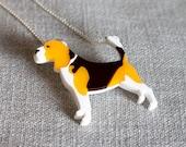 Beagle necklace dog plastic laser cut