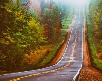 One of Many Roads - Landscape Photography - Autumn, Fall, Foliage - Beautiful Travel Photos - Wisconsin