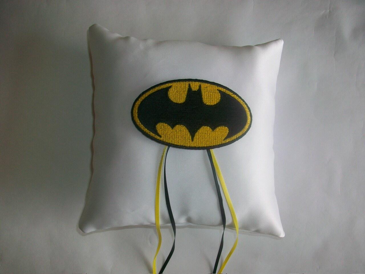 Batman Wedding Gift: Batman Ring Bearer Pillow Superhero Wedding By Ericabstudio