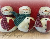 Snowman ornament or bowl fillers