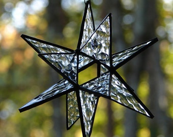Stained Glass Moravian Star