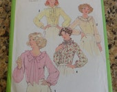 Vintage 1970s Simplicity 8736 Sexy Blouse Pattern size 10 B32.5