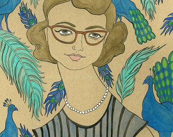Flannery O'Connor 8x10 print