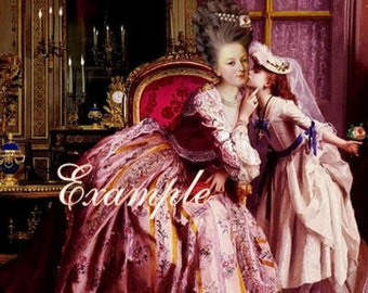 Marie Antoinette kissing her child.Gorgeous.Digital Download,cards, tags,postcards and more