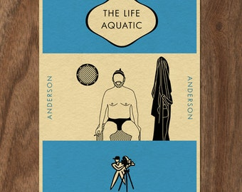THE LIFE AQUATIC with Steve Zissou Penguin Book-inspired Print