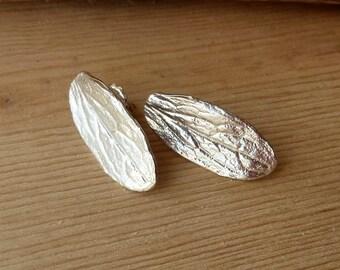 Sage Leaf Studs