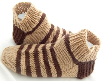 Men Knitted Sock Slippers in Shoe Size 9 to 10