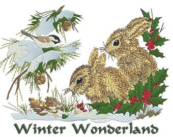 Winter Bunny Scene