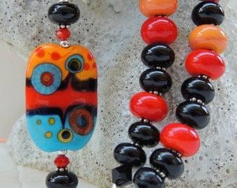 ZEST for LIFE Handmade Lampwork Bead Necklace