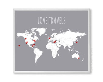 "Shop ""travel map"" in Home & Living"