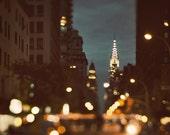 New York Photography, Large Wall Art Prints, NYC Prints, Manhattan Chrysler Building, NYC Art, Travel Photography - Because the Night