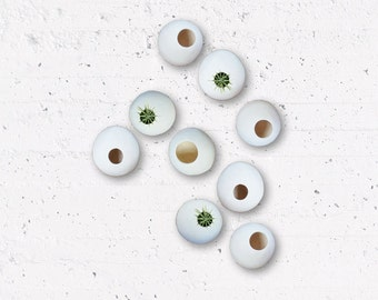 MADE TO ORDER  - Nine Hanging Air Plant Pods - Ceramic Wall Planter Installation - Wall Pods Airplanters Planter Pods