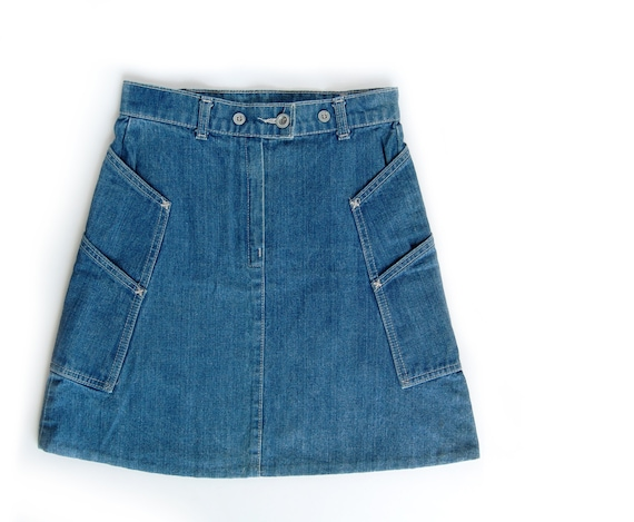 vintage levis denim skirt blue jean mini skirt levi s