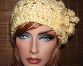 "Crochet Winter Style Headband - Headwrap ""Soft as a Cloud"" Warm!"