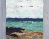 No.4 Shore One - Wet Felted Wall Hanging