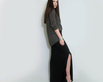 Long Skirt • Leg Slit • Floor Length Maxi Skirt • Women's Skirts • Loft 415 Clothing (No. 101)