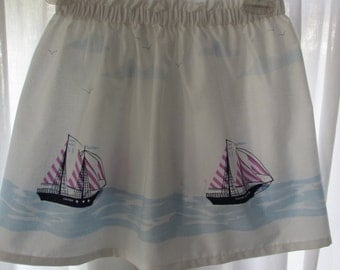Girl Skirt Elastic Waist size 1 to 8 Sarah Jane Fabric Let's Pretend, Children on Parade, Wee Wander or Ship Ahoy
