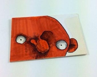 Orange Monster ACEO by Aaron Butcher