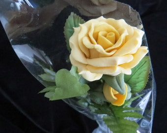 Yellow Bread Dough Rose Symbolizes Friendship