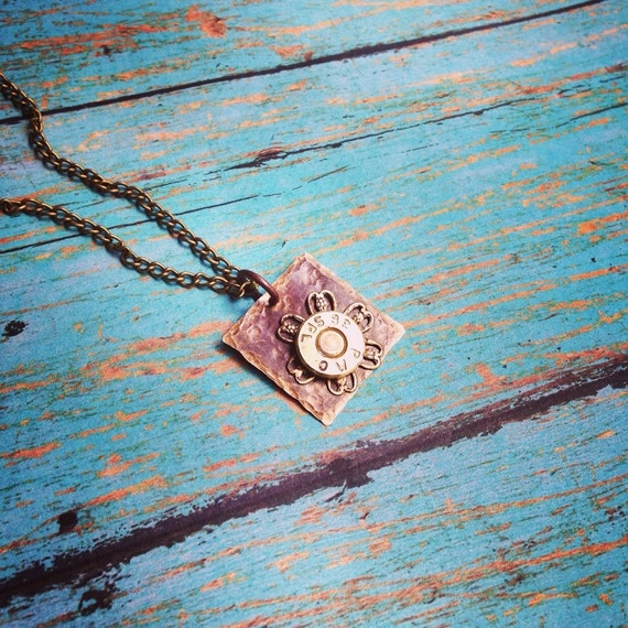 Bullets and blooms bullet necklace