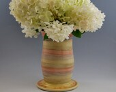 Colorful Red Purple Yellow and Green Pastel Ceramic Vase