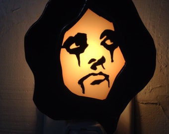 Stained Glass ALICE COOPER Night Light by Glass Action