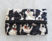 Quilted Tissue Holder - Border Collies