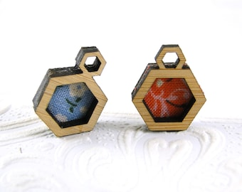 Make your own Hexagon pendant in bamboo - half inch