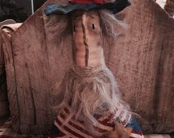 Primitive Americana Uncle Sam  Bust